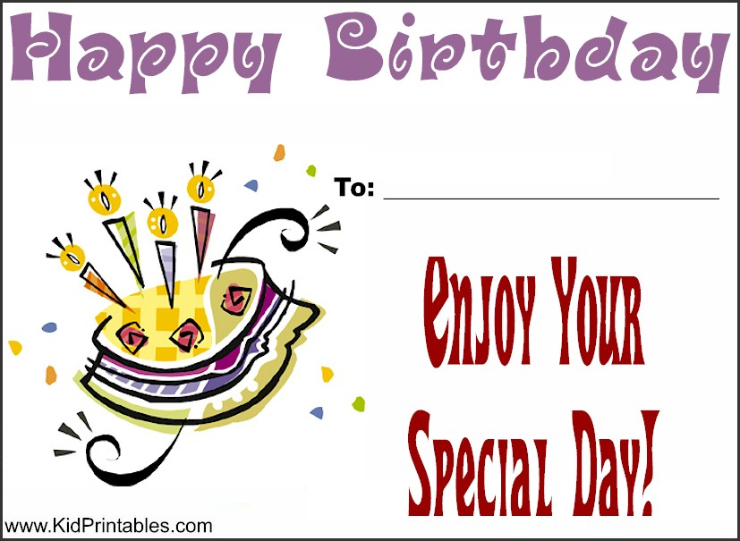 Printable Awards for Kids – Happy Birthday Certificate Templates