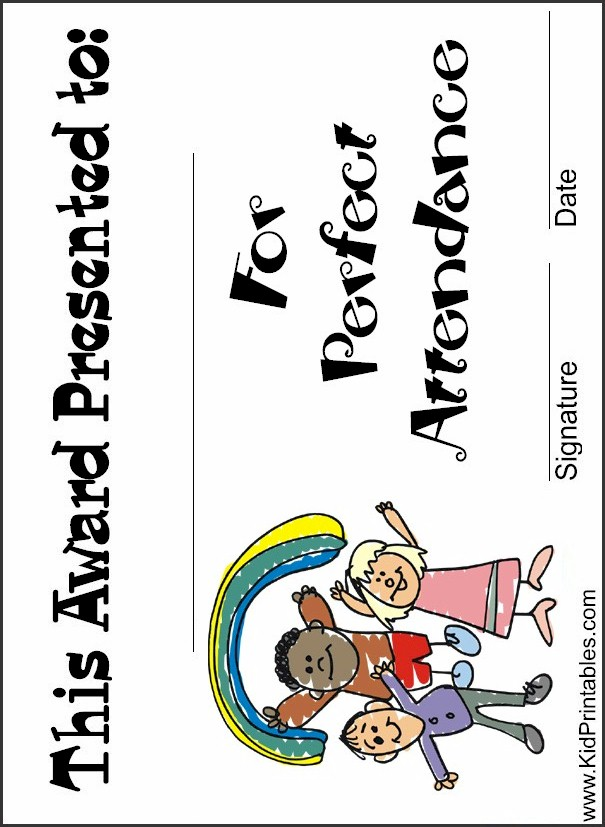 Printable School Certificate Perfect Attendance PERFECT ATTENDANCE ...