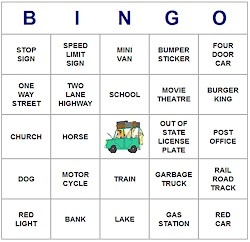 picture regarding Travel Bingo Printable known as Child Printables Printable Generate Bingo Playing cards