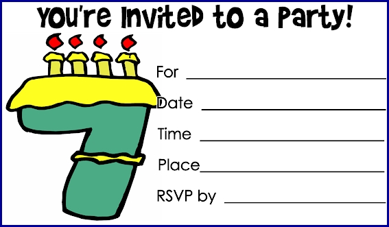 Printable Birthday Invites for best invitations example