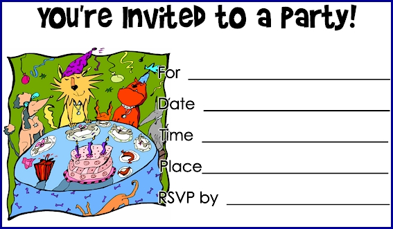 Printable Birthday Invitations – Print out Birthday Invitations