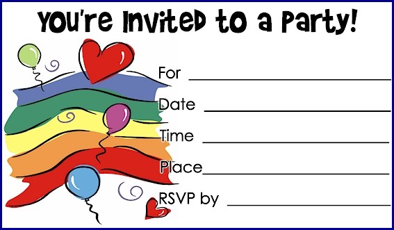 Printable Birthday Invites with awesome invitations template