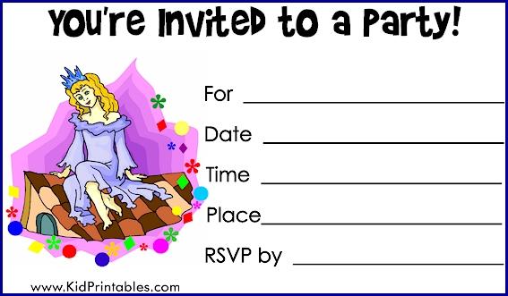 Printable Birthday Invitations as amazing invitations template