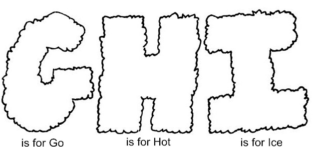 Home Coloring Pages Alphabet Letters GHI