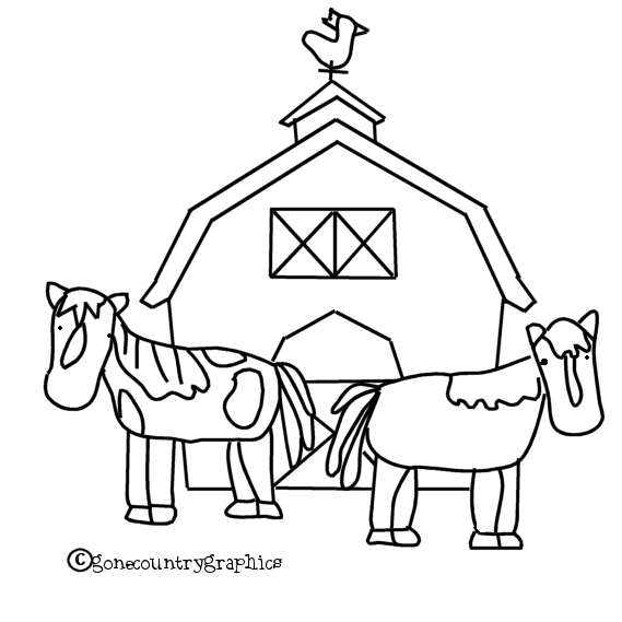 Red Barn Coloring Page http://ecro.dyndns.org/barn-for-coloring/