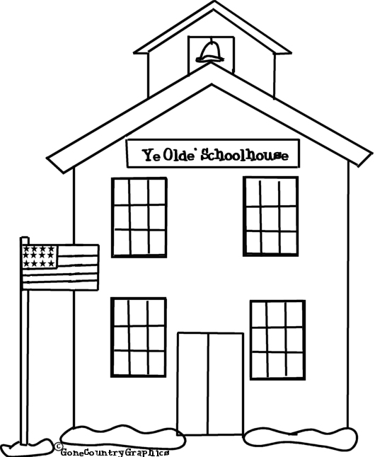 coloring pages old schoolhouse | KidPrintables.com Coloring Pages