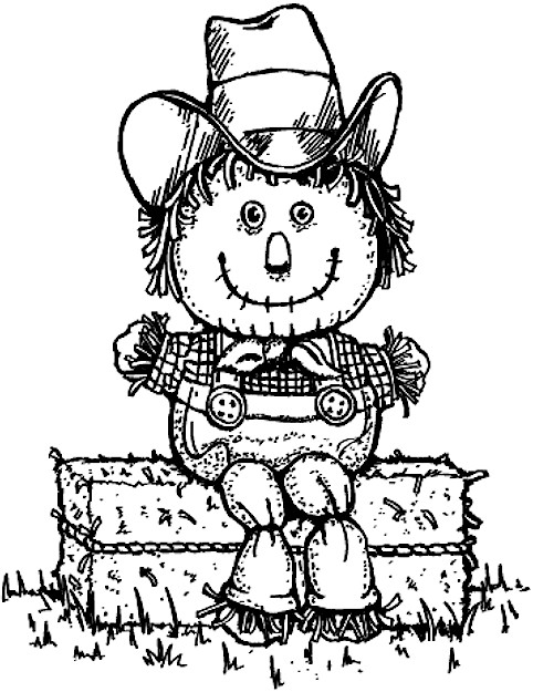 Hay bale cartoon coloring pages for Hay coloring pages