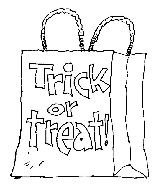 Kidprintables Com Coloring Pages Trick Or Treat Coloring Page