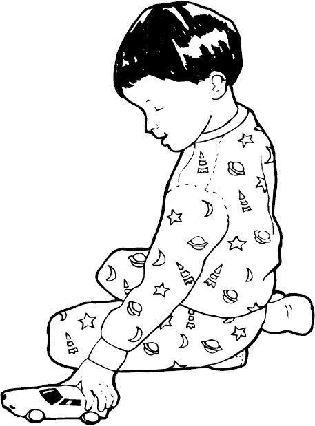 pigs in pajamas coloring pages - photo#29