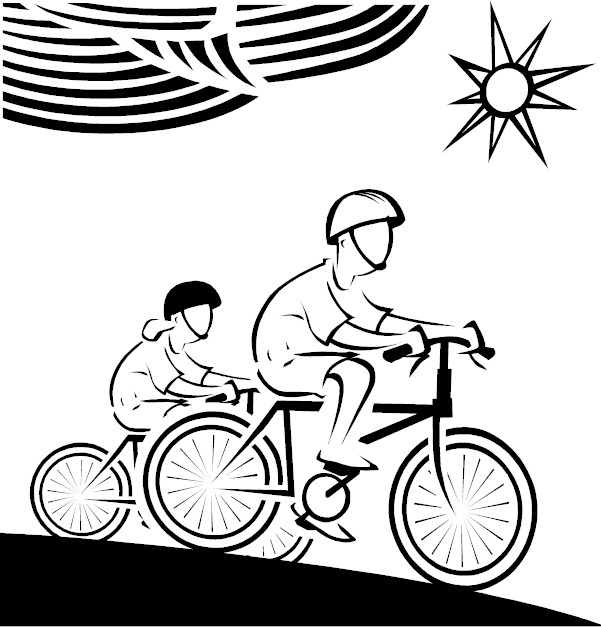 kids riding bikes coloring pages | KidPrintables.com Coloring Pages