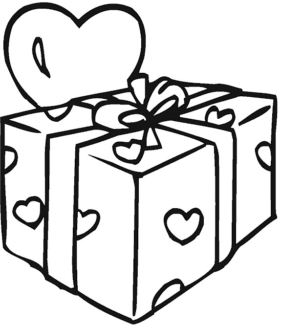 free coloring pages of small presents