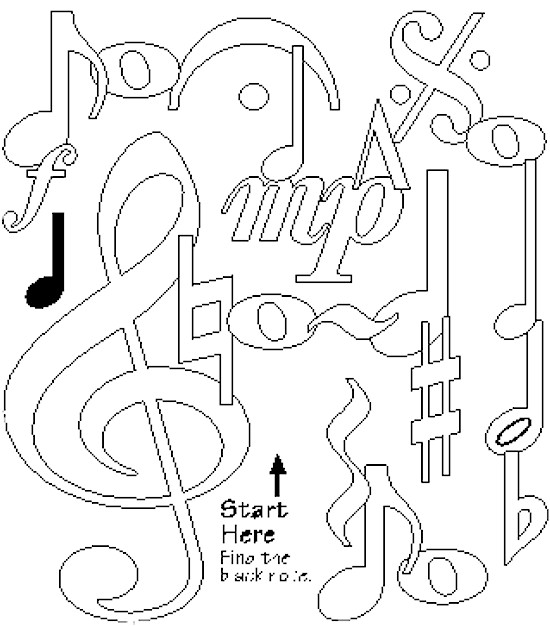 Free Coloring Pages Of Music Stuff