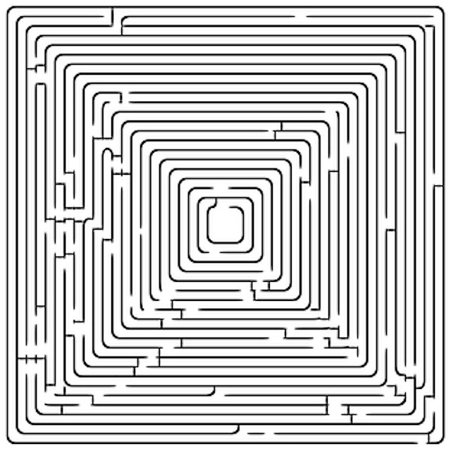 Mazes square maze find your way through the square maze