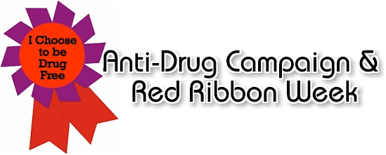 graphic relating to Red Ribbon Week Printable Activities named Anti-Drug and Crimson Ribbon 7 days