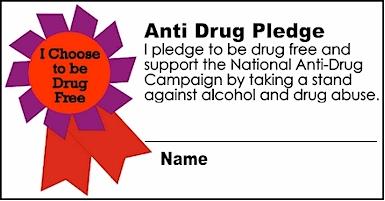 KidPrintables Anti Drug Pledge Cards