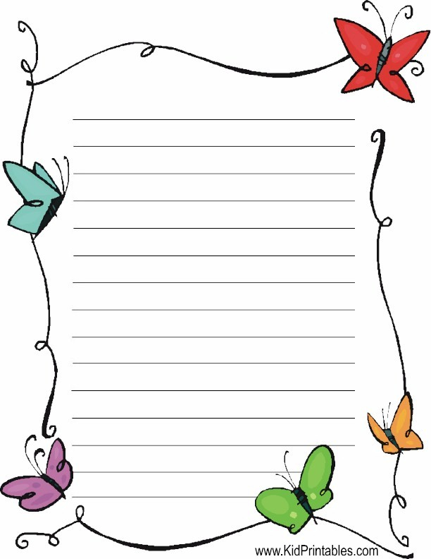 Butterflies, Butterflies Stationery  Lined Stationary Paper