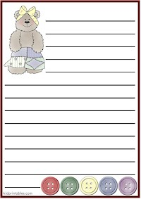 Kid Printables Printable Stationery