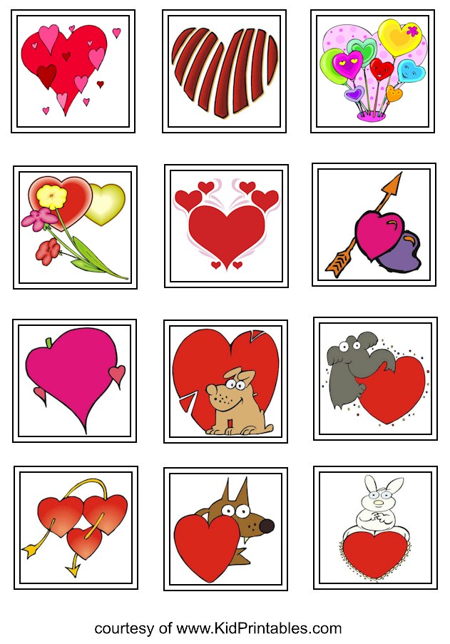 "Children S Calendar With Stickers : Search results for ""heart printable calendar"