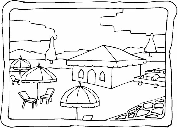 Kid Printables Free Puzzles Beach Coloring Pages