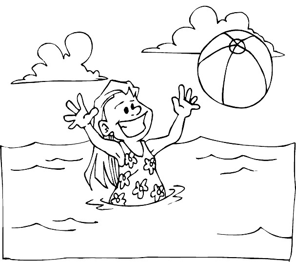Beach Coloring Pages : 20 Free Printable Sheets to Color | Beach ... | 537x607
