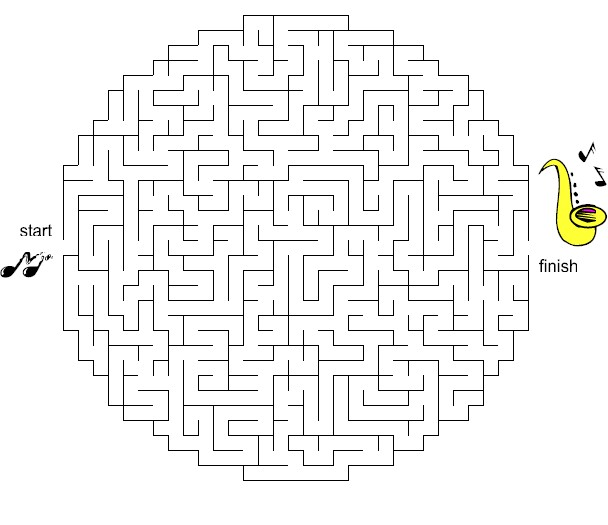 image relating to Music Puzzles Printable called Printable Mazes for Children