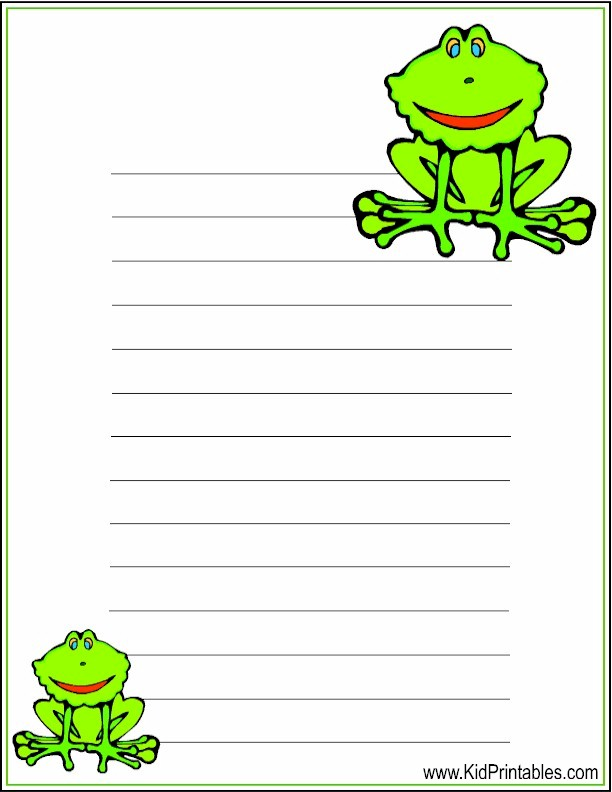 graphic relating to Printable Frogs known as Youngster Printables Printable Frog Stationery