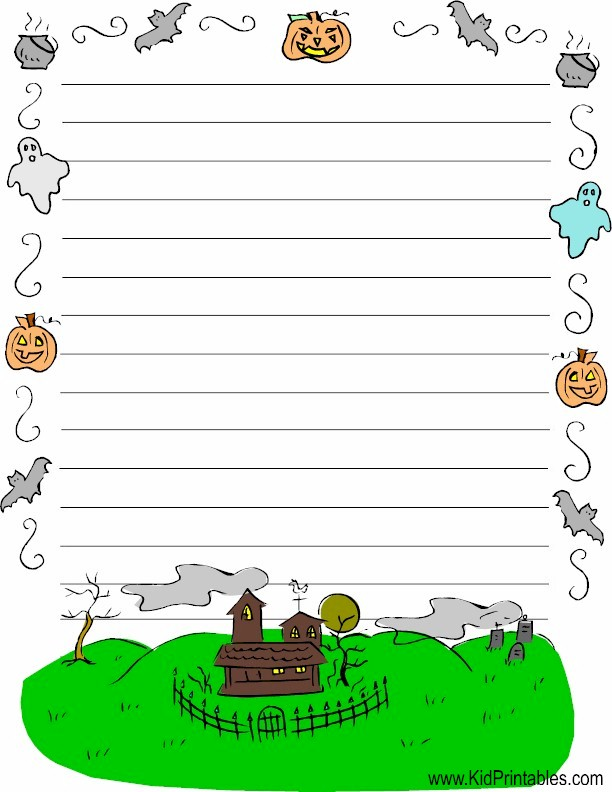 photo relating to Halloween Stationery Printable titled Child Printables Printable Halloween Stationery