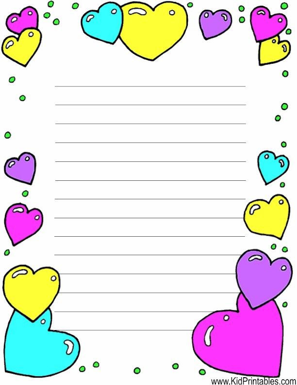 picture regarding Printable Stationary for Kids identified as Boy or girl Printables Printable Center Stationery